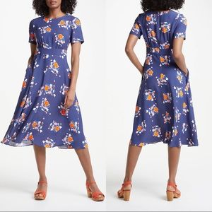 Boden Ruth Midi Dress In Blooming Bouquet